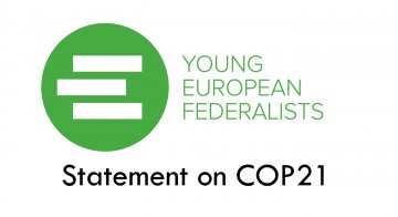 JEF Official Statement on COP21