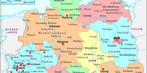Dortmund Germania Cartina.4 Federazioni La Germania Eurobull It